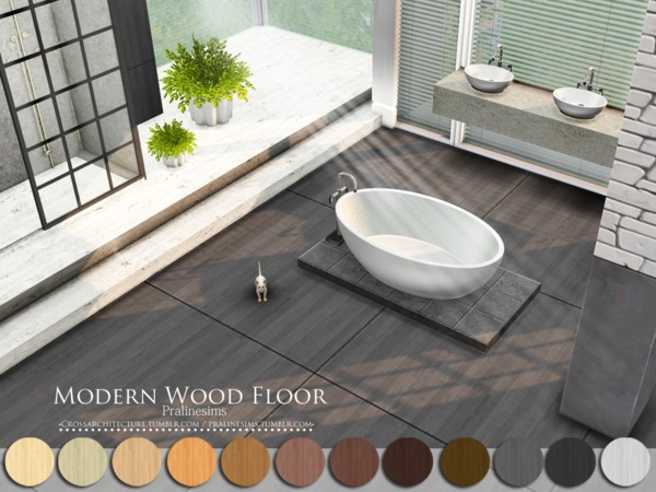 Modern Wood Floor by Pralinesims at TSR image 1713 Sims 4 Updates