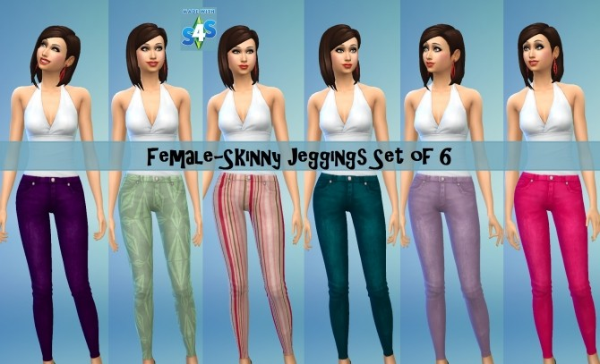 Sims 4 SP08 Skinny Jeggings by wendy35pearly at Mod The Sims