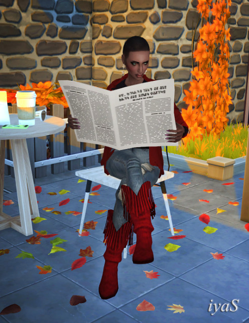 Sims 4 Newspaper at Soloriya