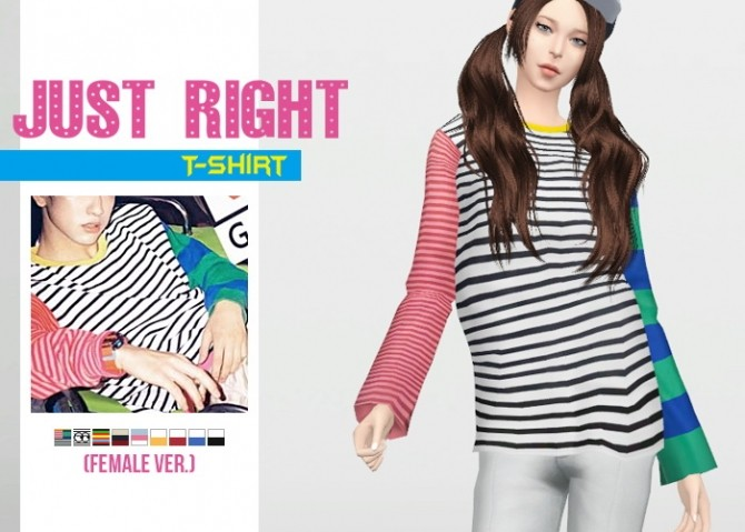 Just Right T Shirt (Female Ver.) at Waekey image 1771 670x479 Sims 4 Updates