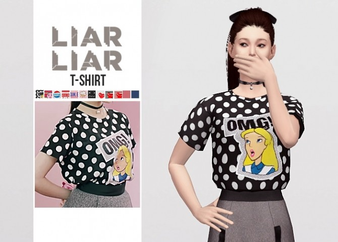 Liar Liar T Shirt at Waekey image 1781 670x479 Sims 4 Updates