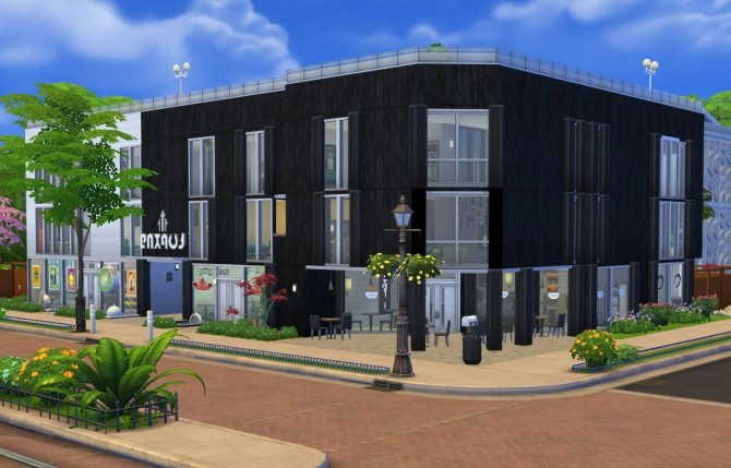 The Tech Hub Urban Apartments and Shops by porkypine at Mod The Sims image 179 670x429 Sims 4 Updates