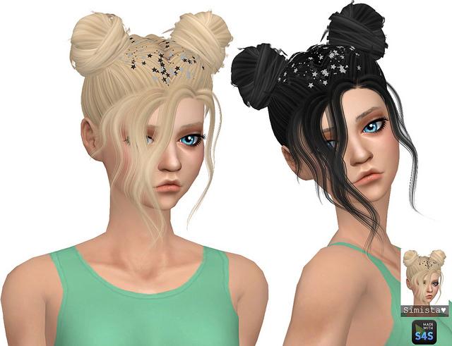 Sims 4 Nevaeh Hair Retexture at Simista