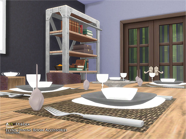 Flynn dining room accessories by artvitalex at tsr sims for Dining room decor accessories
