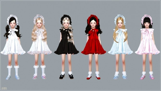 Sims 4 Child Frill Bonnet at Marigold