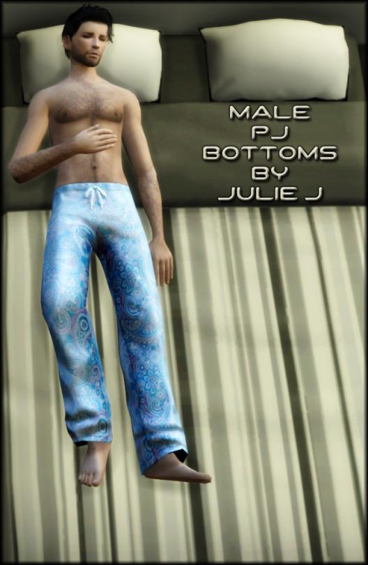 Sims 4 Male PJ Bottoms at Julietoon – Julie J