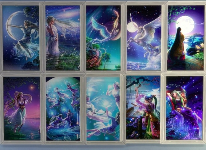 Kagaya`s Starry Tales paintings by Sauris at Mod The Sims image 184 670x488 Sims 4 Updates