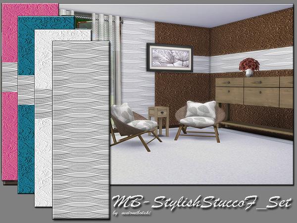Sims 4 MB Stylish Stucco F Set by matomibotaki at TSR