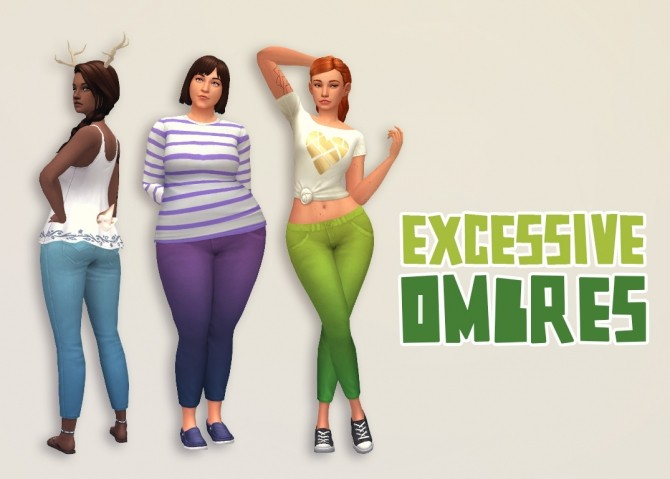 Sims 4 Excessive Ombres pants at Hamburger Cakes