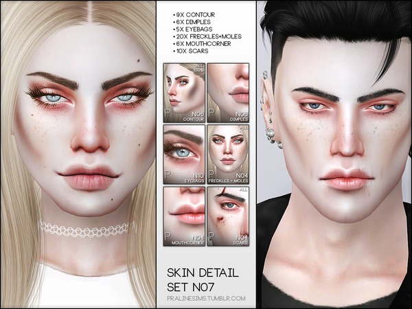 Skin Detail Kit N07 by Pralinesims at TSR image 1853 Sims 4 Updates