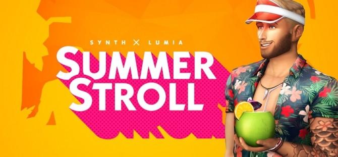 Sims 4 SUMMER STROLL CC Stuff pack at LumiaLover Sims