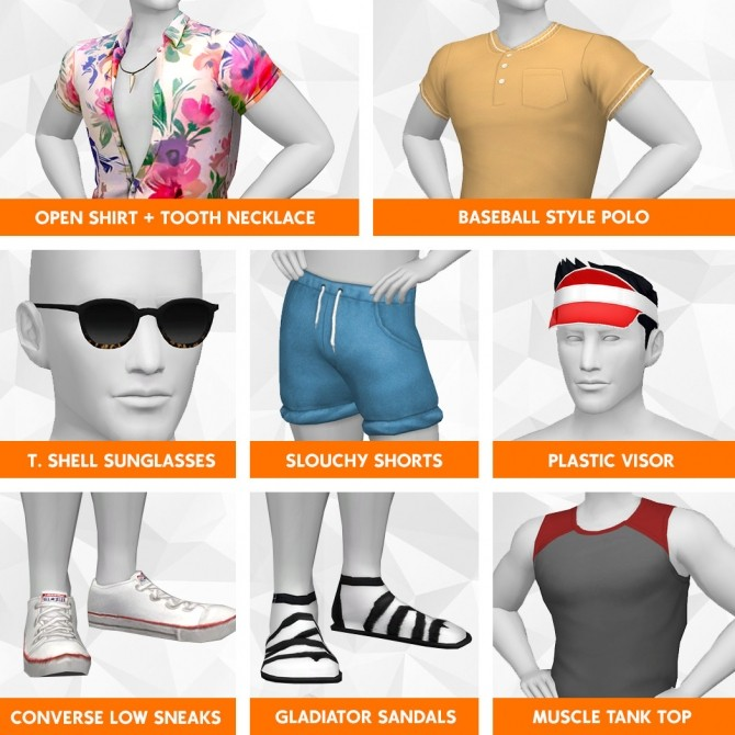 Summer Stroll Cc Stuff Pack At Lumialover Sims 187 Sims 4