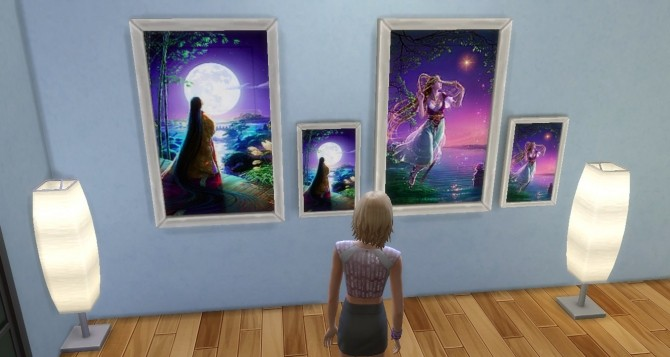 Kagaya`s Starry Tales paintings by Sauris at Mod The Sims image 187 670x357 Sims 4 Updates