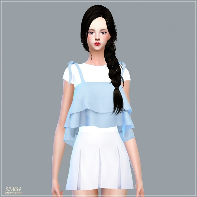 Ribbon Tiered Sleeveless With Tee at Marigold image 1874 670x670 Sims 4 Updates