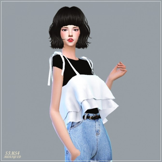 Ribbon Tiered Sleeveless With Tee at Marigold image 1883 670x670 Sims 4 Updates