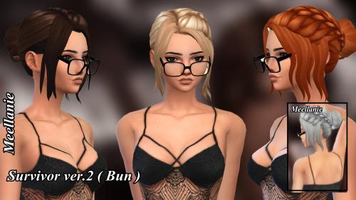 Survivor Hair ver 1 and ver 2 at Meellanie image 1891 Sims 4 Updates