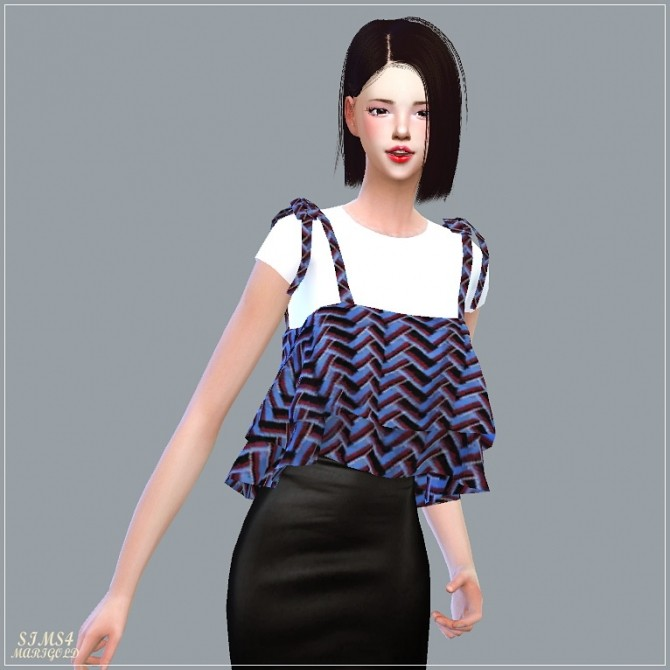 Ribbon Tiered Sleeveless With Tee at Marigold image 1894 670x670 Sims 4 Updates