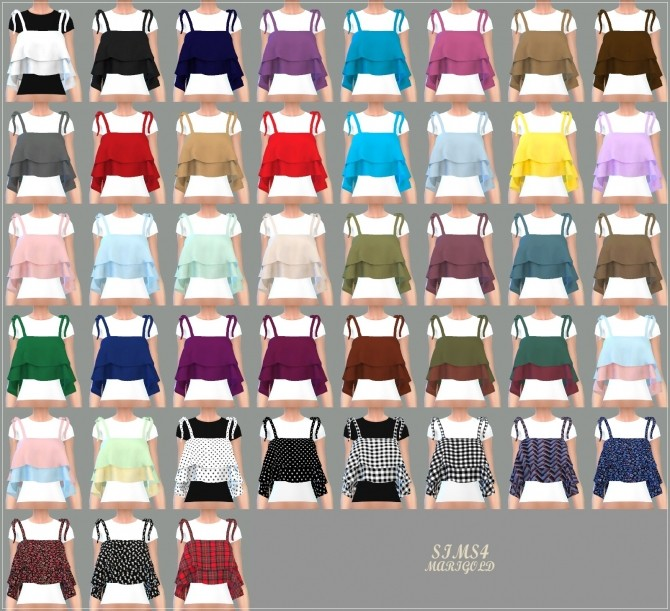 Ribbon Tiered Sleeveless With Tee at Marigold image 1904 670x611 Sims 4 Updates