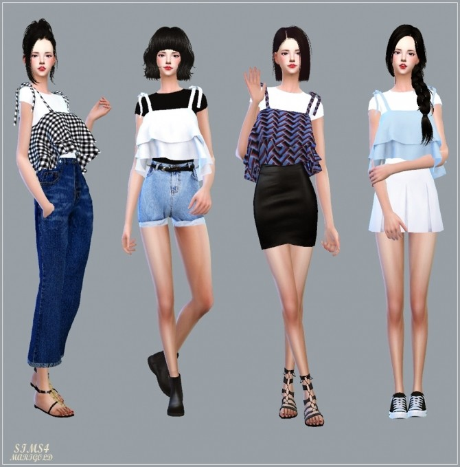 Ribbon Tiered Sleeveless With Tee at Marigold image 1917 670x679 Sims 4 Updates