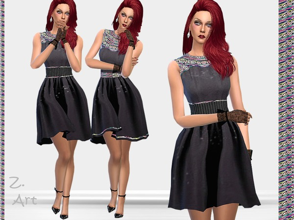 Sims 4 Lady Chic dress by Zuckerschnute20 at TSR