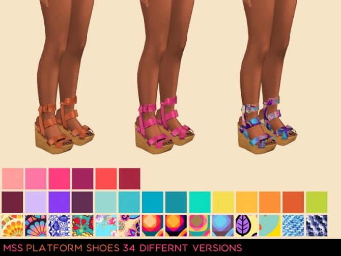 Sims 4 Plaform Shoes by midnightskysims at SimsWorkshop