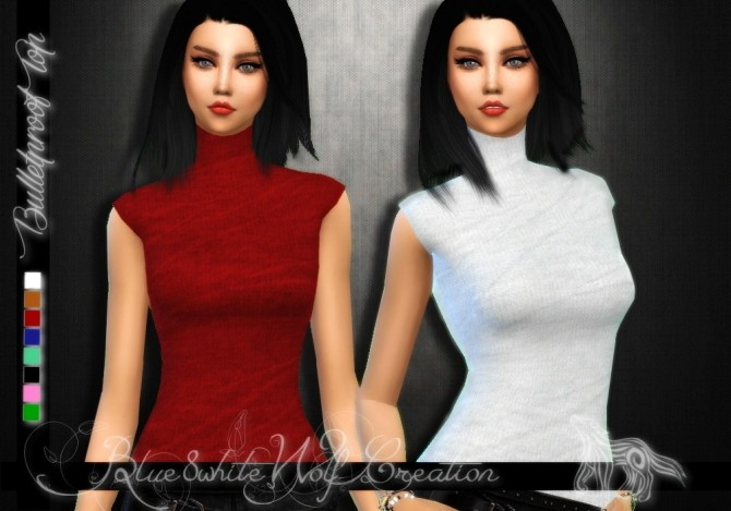 Sims 4 Bulletproof Top by Blue8white at SimsWorkshop
