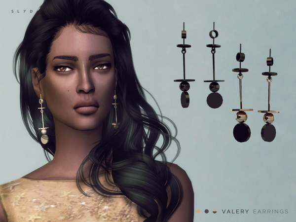 VALERY Earrings by SLYD at TSR image 1985 Sims 4 Updates