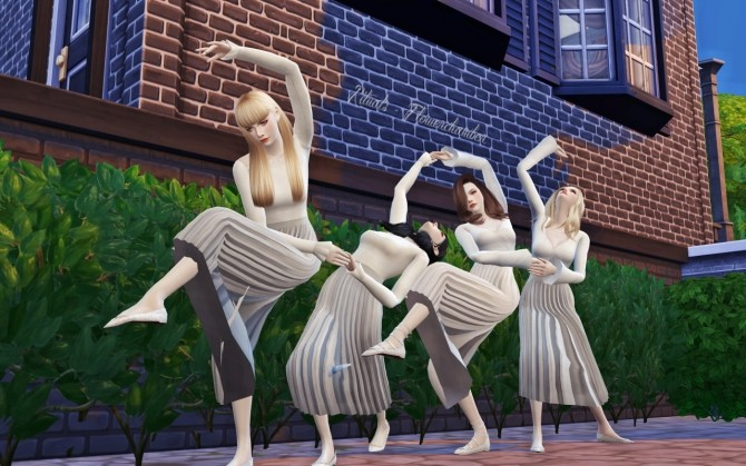 Rituals 3 Sets Of Group Poses At Flower Chamber 187 Sims 4