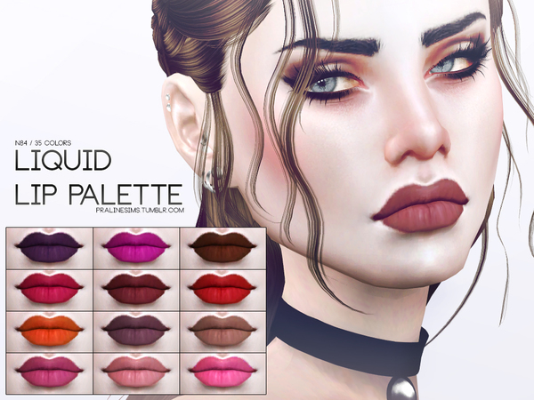 Liquid Lip Palette N84 by Pralinesims at TSR image 2 Sims 4 Updates