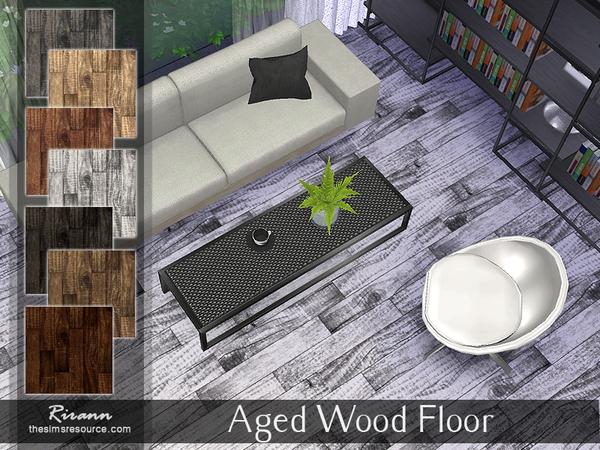 Sims 4 Aged Wood Floor by Rirann at TSR