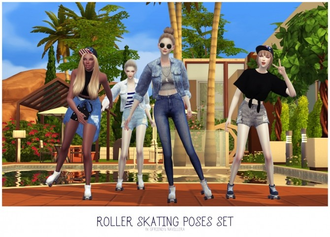 ROLLER SKATING POSES SET at Flower Chamber image 20110 670x480 Sims 4 Updates