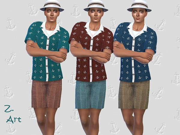 Tourist outfit by Zuckerschnute20 at TSR image 2030 Sims 4 Updates