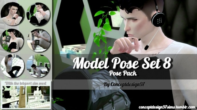 Sims 4 Model Pose Set 8 at ConceptDesign97