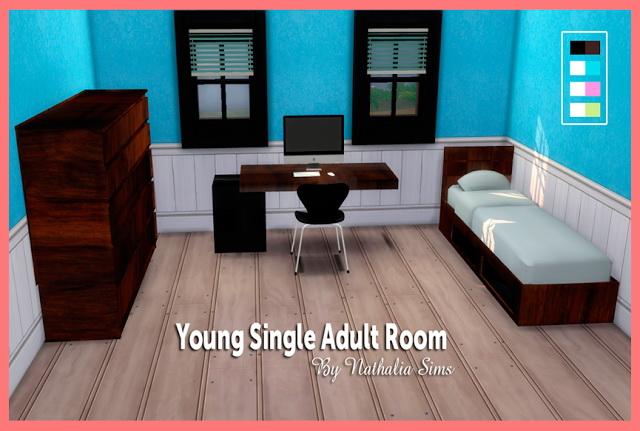 Sims 4 Single bedroom at Nathalia Sims