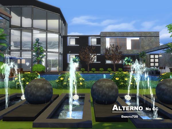 Sims 4 Alterno luxury modern house by Danuta720 at TSR