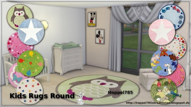 Kids Round Rugs at Hoppel785 image 2115 670x377 Sims 4 Updates