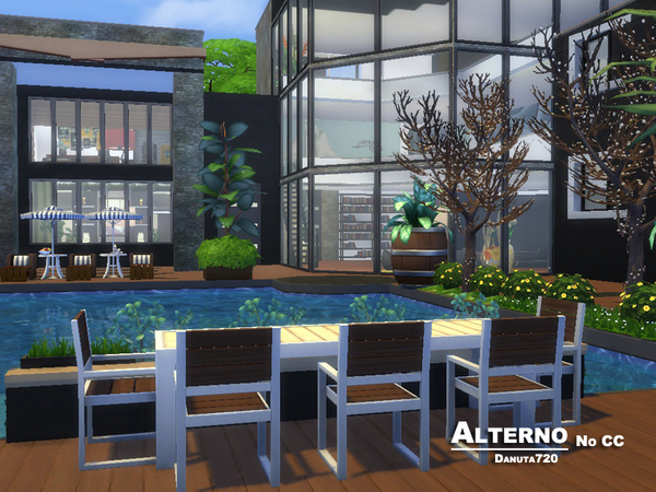 Alterno luxury modern house by Danuta720 at TSR image 2134 Sims 4 Updates