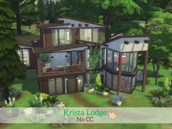 Krista lodge by madabb13 at tsr sims 4 updates for Best house designs sims 4