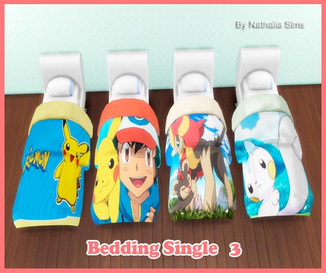 Sims 4 Bedding Single Conversion 2t4 (3) at Nathalia Sims