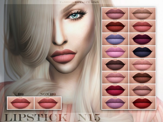 Lipstick N15 (HQ) at Fashion Royalty Sims image 2152 670x503 Sims 4 Updates