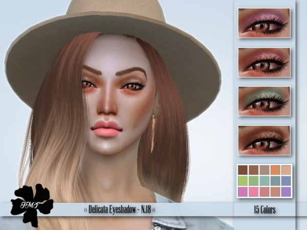 Sims 4 IMF Delicata Eyeshadow N.18 by IzzieMcFire at TSR