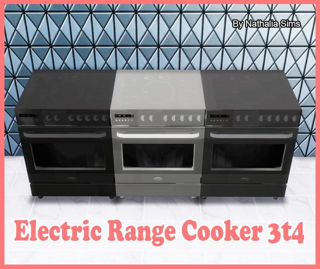 Sims 4 4Sims Electric Range Cooker Conversion 3t4 at Nathalia Sims