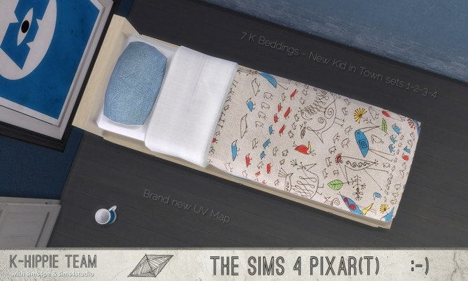 Sims 4 7 K Beddings New Kid in Town sets 1 to 4 at K hippie