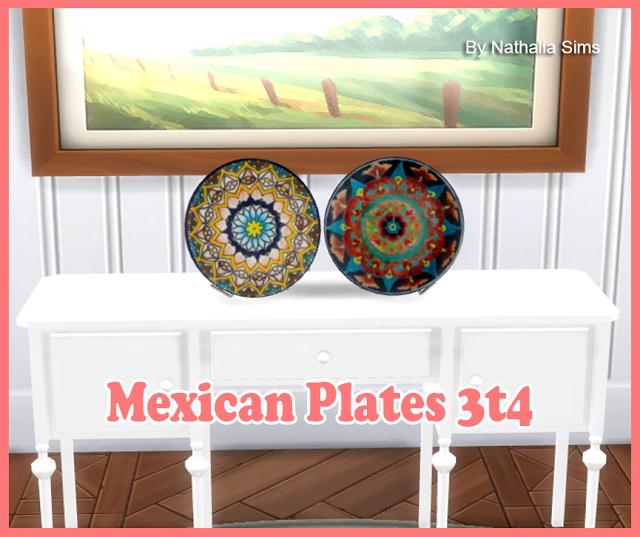 Sims 4 4Sims Mexican Plates Conversion 3t4 at Nathalia Sims