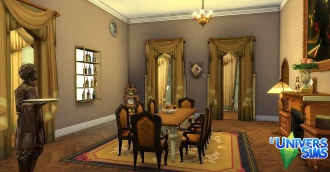 Sims 4 Clair De Lune house by Coco Simy at L'UniverSims