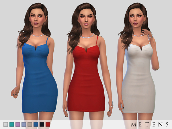 Sims 4 Solis Dress by Metens at TSR