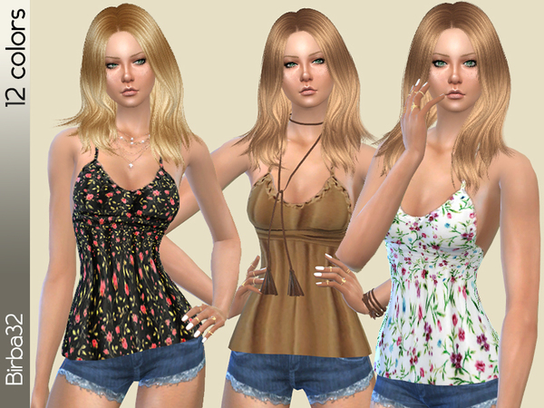Sims 4 Hippie top 2 by Birba32 at TSR