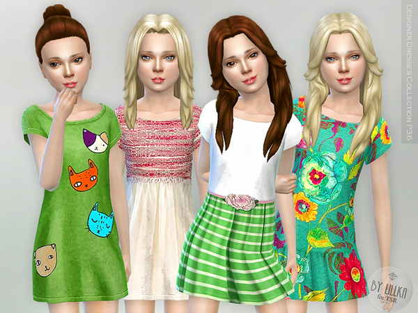 Sims 4 Designer Dresses Collection P36 by lillka at TSR