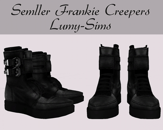 Sims  Male Cc Leather Shoes