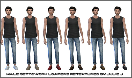 Sims 4 Male Get to Work Loafers Retextures at Julietoon – Julie J